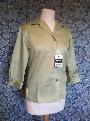 Vintage 1950s London Pride Blouse Original Rock And Roll deadstock tailored