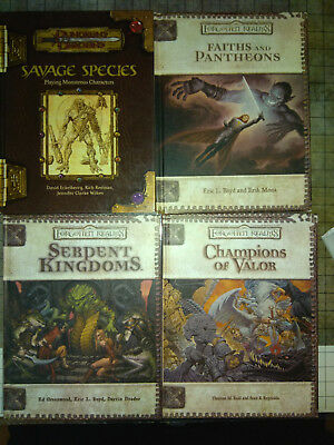 4 Bücher Books D&D Dungeons & Dragons Forgotten Realms