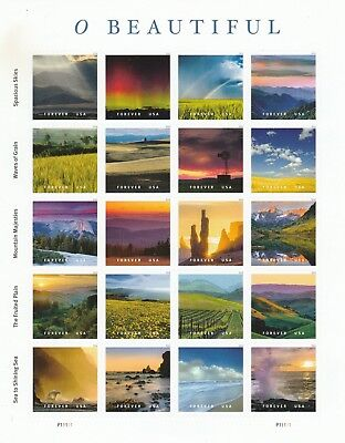 Scott# 5298A-5298T O BEAUTIFUL 2018 SELF-ADH MNH SHEET 20 FOREVER STAMPS