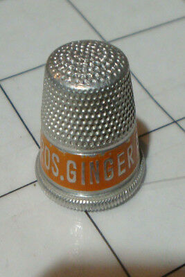 vintage aluminum sewing THIMBLE soda thimbles PHILLIPS BROS Brothers Ginger Ale