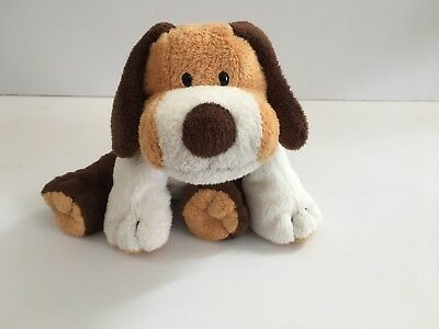Ty Pluffies Whiffer Puppy Dog Plush Retired Brown White Stuffed