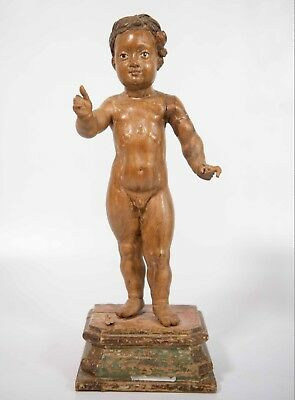 17th Century Carved Sculptured Wood Figurine or Statue made in France
