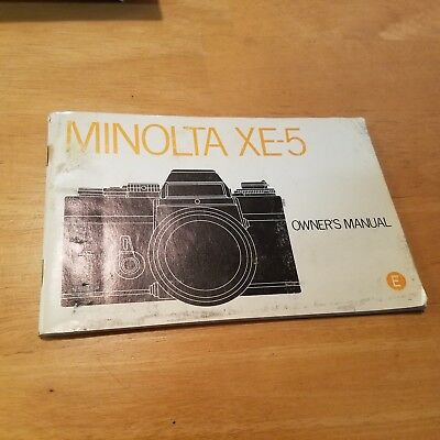 Minolta XE-5 Instruction Book Manual