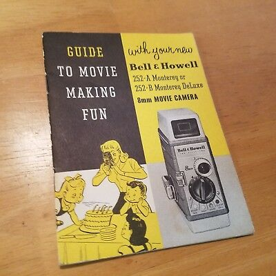 Bell & Howell 252A Monterey +252-B  Instruction Book Manual