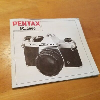 Pentax K1000  Instruction Book Manual