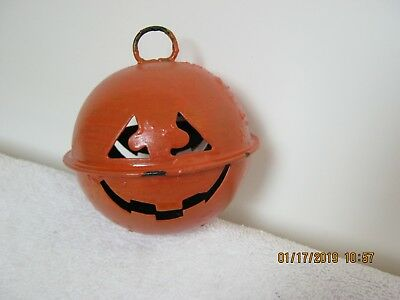 "Antique: Halloween Metal Jack-O-Lantern Noise Maker. "" Estate Find "" Must See"