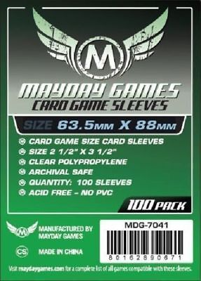 100 Bustine Protettive Sleeves Mayday Games 63,5x88 mm Buste Giochi Tavolo