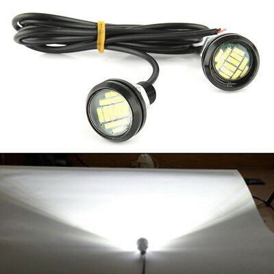 2pc - 12v 15W Auto Lampadina di Retromarcia Eagle Eye Led Diurne DRL Backup Luce