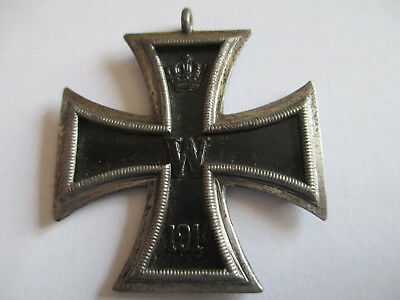 WW1 Imperial Germany 1914 Iron Cross. No suspender ring or ribbon