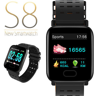 Smart Bracelet Smartwatch Android iOS Bluetooth GPS Sports Waterproof S8