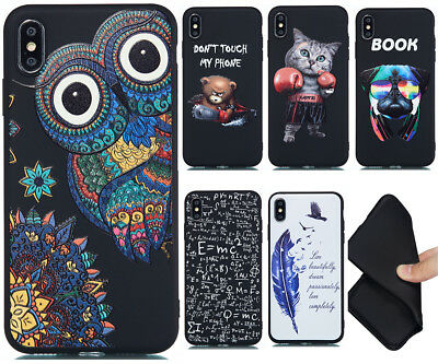Non-slip Shockproof Patterned Silicone Rubber Back Case TPU Cover Lot Bumper GF2