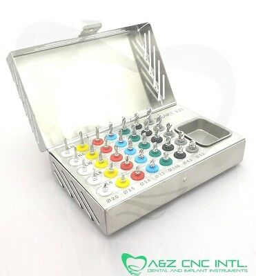 Dental Implant Surgical Drills with Stopper Kit /  35 PCs Stoppers Drills