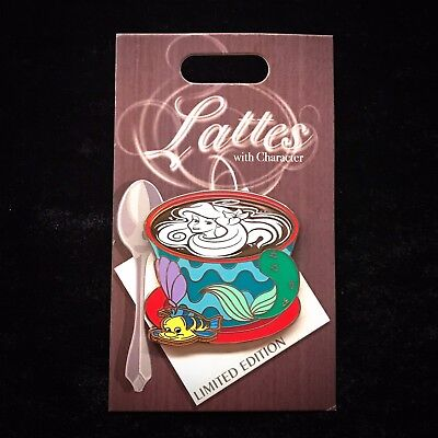 LE Little Mermaid Ariel Character Latte Coffee Cup Art November Month Disney Pin