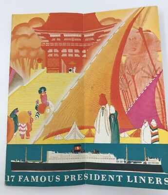 Vintage Orient and Around the World Dollar Steamship Line Brochure 1930s Cruise