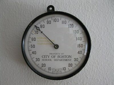 Old Thermometer City of Boston, MA... School Department Classroom