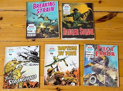 5 war picture library comics from 1970s