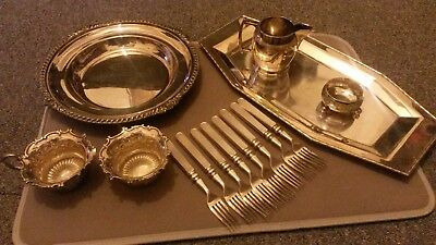 Job Lot Quality Silver Plated items - all walker and hall .2.4kg