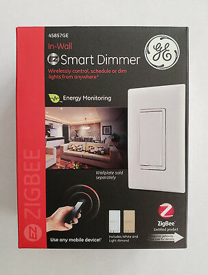 GE ZigBee In-Wall Smart Dimmer, LED/CFL, Energy Monitoring (45857GE)