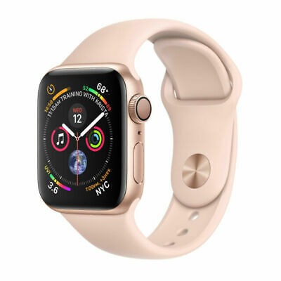 Apple Watch Series 4 40 mm Gold Aluminum Case with Pink Sand Sport Band (GPS)