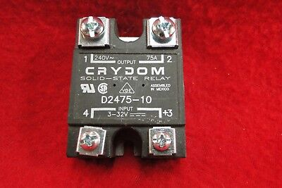 Crydom  D2475-10 Solid State Relay 3-32 VDC IN UP TO 240 AC OUT 75 AMP