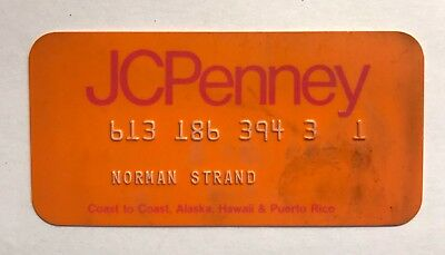 Vintage 1960's / 1970's JCPenny Charge Plate / Charge Card