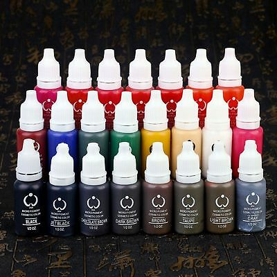 23Pcs Biotouch Ink Permanent Makeup Pigment 15Ml Cosmetic 23 Color Tattoo Ink