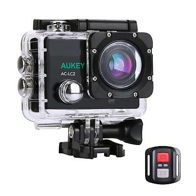 AUKEY Sports Action Camera 4K Ultra HD WiFi Remote Waterproof with 2 Batteries