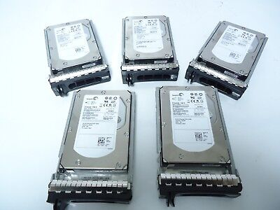 "Lot of 5 SEAGATE Cheetah 15K.5 300GB 15K RPM SAS 3.5"" HDD  Hard Drive W/tray"