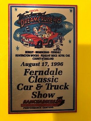 vintage 1996 Woodward Dream Cruise Official Plaque Style Three