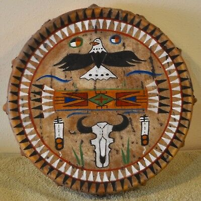 Sacred Eagle / Native American Drum Painted by Lakota Artist Sonja Holy Eagle
