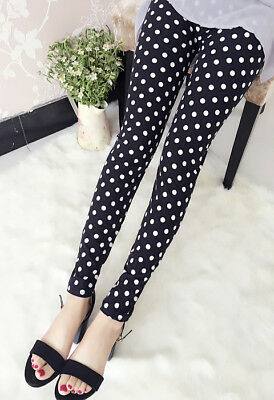 Hot Casual Cool Pattern Comfy Small Dots Funky Printed Leggings Trousers Pants
