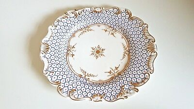 Antique English Porcelain Plate hand painted 19th Century