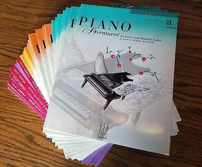 FABER Piano Adventures Lot of 35 Books Level Primer-4  Theory, Performance NEW