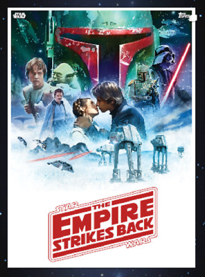 Topps Star Wars Card Trader 2019 Saga Movie Posters The Empire Strikes Back Red