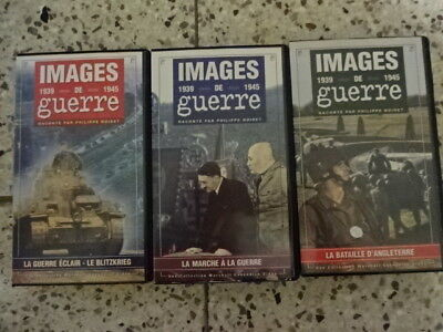 Cassettes video.Guerre.Lot de 3 cassettes