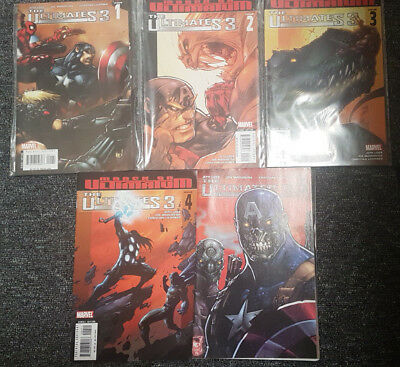 Marvel The Ultimates Volume 3 Issue #1-5 Complete - Very Fine Bagged & Backed