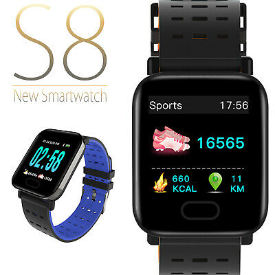 Smartwatch Cardio Android iOS Bluetooth GPS Sport Waterproof S8 Smart Bracelet