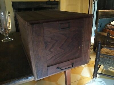 Antique 1 of 2 Drawer Wood File Cabinet - Stackable