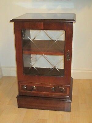 Pre-owned Reproduction Regency style cabinet mahogany finish with glass door