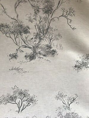 🌿 Laura Ashley Elmley Fabric - Steel - 1m (More Avail)