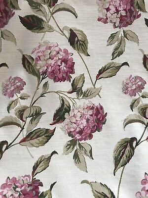 🌸 Laura Ashley Hydrangea Fabric - Natural / Pink - 1m (More Avail)