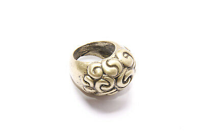 Antique Style Ladies Minimalist Beautiful Brass Ring with Twists in Front (T332)