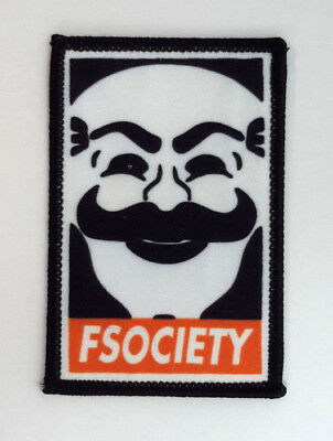 "Mr Robot Fsociety 3 "" Tall Patch-Mailed des USA"