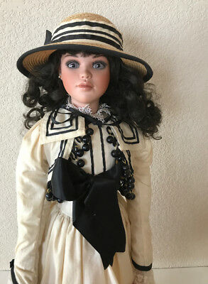 "Laura Jan McLean Victorian Miss Collection Jessica Mold Doll 1997 29"" 469/1000"