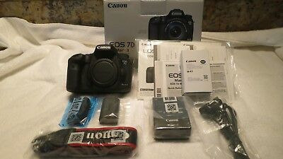 Canon EOS 7D Mark II  Digital SLR Camera with extras 1667 Shutter Count