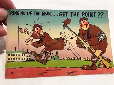 Army Comics Postcard Bringing Up the Rear Colourpicture Canvas Series N (N)