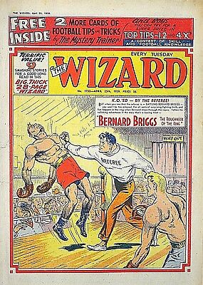 WIZARD + FREE GIFT FOOTBALL CARDS !! 25th APRIL 1959 - FAB 60th BIRTHDAY GIFT !!