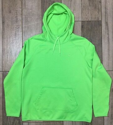 be424f853ad2 Nike Therma Fit Hoodie Mens Size L Large Neon Green Light Weight Polyester
