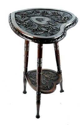 Antique Carved Oak Spinning Stool c1904 - FREE Shipping [PL4829]