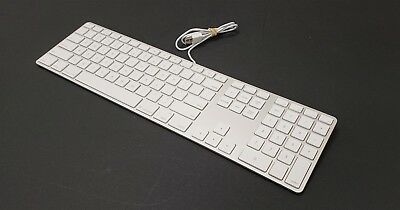 Apple A1243 Ultra Thin Aluminum Wired USB Keyboard MB110LL/B